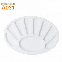 Khyati Colour Mixing Plate / Palette - Oval Small