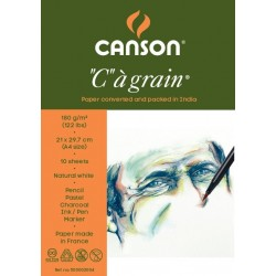 "Canson ""C"" a' grain 180 GSM A4 Pack of 10 Sheets"