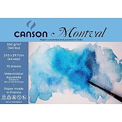 Canson Montval 300 GSM A4 Pack of 10 Sheets