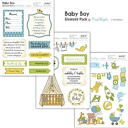 CrafTangles Elements Pack  - Baby Boy (3 sheets of A4)