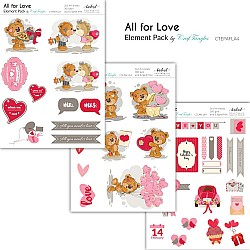 CrafTangles Elements Pack  - All for Love (3 sheets of A4)