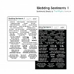 CrafTangles Sentiment Sheets  - Wedding Sentiments 1 (2 sheets of A4)