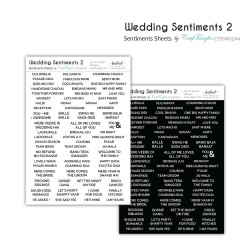 CrafTangles Sentiment Sheets  - Wedding Sentiments 2 (2 sheets of A4)