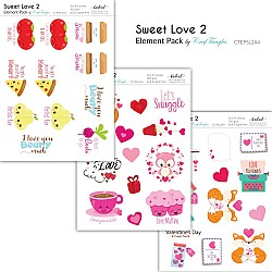 CrafTangles Elements Pack  - Sweet Love 2 (3 sheets of A4)