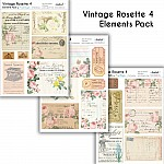 CrafTangles Elements Pack  - Vintage Rosette 4 (3 sheets of A4)