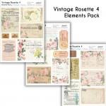 CrafTangles Elements Pack  - Vintage Rosette 4 (3 sheets of A4)