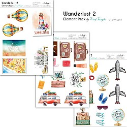 CrafTangles Elements Pack  - Wanderlust 2 (3 sheets of A4)