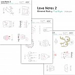 CrafTangles Elements Pack  - Love Notes 2 (3 sheets of A4)
