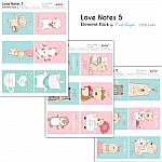CrafTangles Elements Pack  - Love Notes 5 (3 sheets of A4)