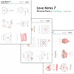 CrafTangles Elements Pack  - Love Notes 7 (3 sheets of A4)