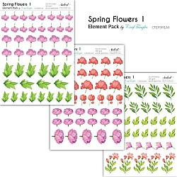CrafTangles Elements Pack  - Spring Flowers 1 (3 sheets of A4)