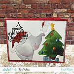 CrafTangles Elements Pack  - Christmas Animals (3 sheets of A4)