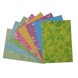 Assorted A5 Paper Pack - Floral Green (Set of 24 sheets)