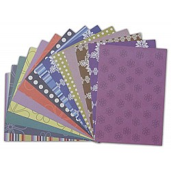 Assorted A5 Paper Pack - Floral Purple (Set of 32 sheets)