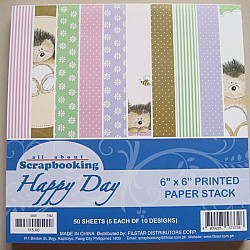 6x6 Paper Pack - Happy Day (Set of 50 sheets)