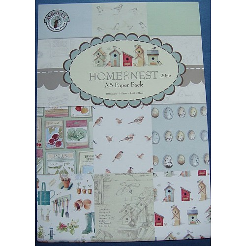 Assorted A5 Paper Pack - Home to Nest (Set of 20 sheets)