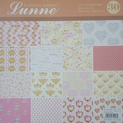Assorted 12x12 Lunne Paper Pack - Bride & Groom (Set of 30 sheets)