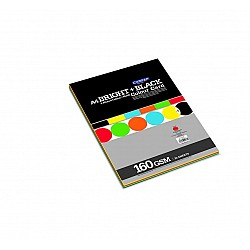 CAMPAP Bright & Black Color Card Paper