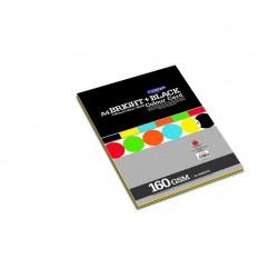 CAMPAP Bright & Black Color Card Paper