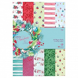 Papermania A4 Paper Pack by Lucy Cromwell - At Christmas