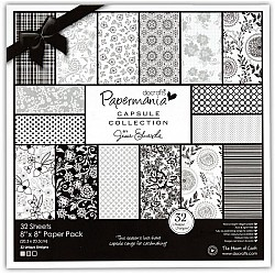 "Papermania Capsule Collection 8X8"" Paper Pack by Jesse Edwards - Bexley Black"
