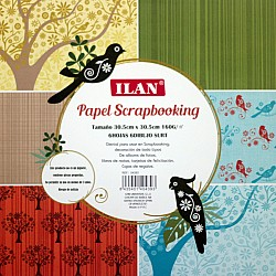 Ilan 12 by 12 Paper Pack - BirdSong (Set of 6 sheets)