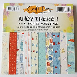 6x6 Paper Pack - Ahoy There(Set of 50 sheets)