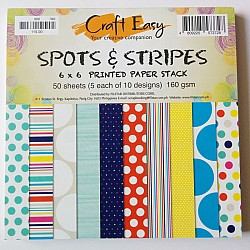 6x6 Paper Pack - Spots and Stripes (Set of 50 sheets)