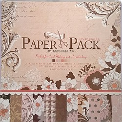 12x12 EnoGreeting Scrapbook paper pack - Elegant Flowers (Set of 24 sheets and 3 die cut sheets)