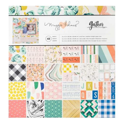 "Crate Paper Scrapbook Paper Pack by American Crafts - Gather (12""x12"")"