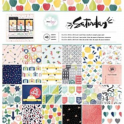 "Dear Lizzy Scrapbook Paper Pack by American Crafts - Saturday (12""x12"")"