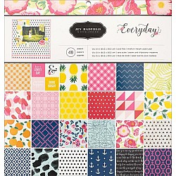 "Pebbles Scrapbook Paper Pack by American Crafts - Everyday (12""x12"")"