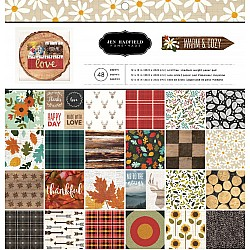 "Jen HAdfield Scrapbook Paper Pack by American Crafts - Warm and Cozy (12""x12"")"