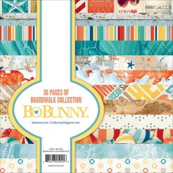 Bo Bunny paper pad - Boardwalk (6by6 inch) - 36 sheets