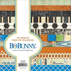 Bo Bunny paper pad - Game On (6by6 inch) - 36 sheets
