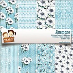 "BobNBetty Scrapbook Paper Pack - Anemone (6""x6"") - 24 sheets"