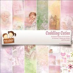 "BobNBetty Scrapbook Paper Pack - Cuddling Cuties (6""x6"") - 36 sheets"