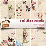 "BobNBetty Scrapbook Paper Pack - Feel Like A Butterfly (6""x6"") - 36 sheets"