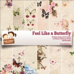 """BobNBetty Scrapbook Paper Pack - Feel Like A Butterfly (6""""x6"""") - 36 sheets"""