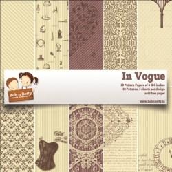 "BobNBetty Scrapbook Paper Pack - In Vogue (6""x6"") - 30 sheets"