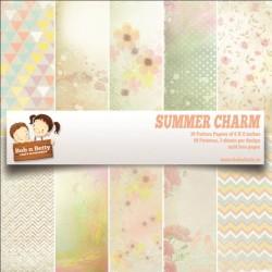 "BobNBetty Scrapbook Paper Pack - Summer Charm (6""x6"") - 30 sheets"