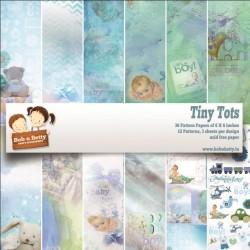 """BobNBetty Scrapbook Paper Pack - Tiny Tots (6""""x6"""") - 36 sheets"""