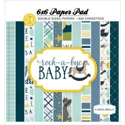 Carta Bella paper pad - Rock a Bye Baby - Boy (6by6 inch)