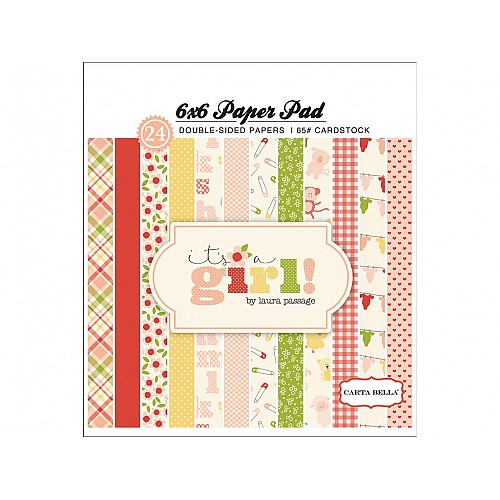 Carta Bella paper pad - Its a Girl (6by6 inch)