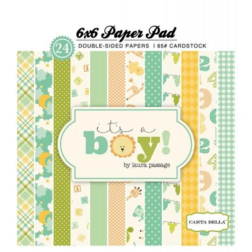 Carta Bella paper pad - Its a Boy (6by6 inch)