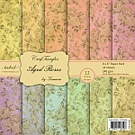 CrafTangles Scrapbook Paper Pack - Aged Roses (6x6)