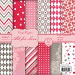 """CrafTangles Scrapbook Paper Pack - All For Love (12""""x12"""")"""