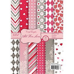 CrafTangles Scrapbook Paper Pack - All For Love (A4)