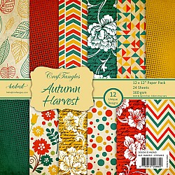 "CrafTangles Scrapbook Paper Pack - Autumn Harvest (12""x12"")"