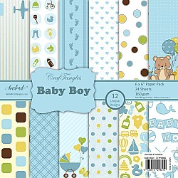 "CrafTangles Scrapbook Paper Pack - Baby Boy (6""x6"")"